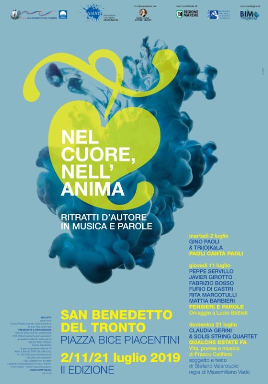 SAN BENEDETTO, «NEL CUORE, NELL'ANIMA»: OMAGGIO DEI GRANDI INTERPRETI AI GRANDI AUTORI DELLA CANZONE ITALIANA