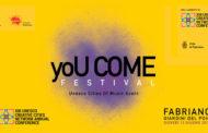 YOUCOME FESTIVAL: A FABRIANO GIOVEDI' 13 GIUGNO I CONCERTI DELLE